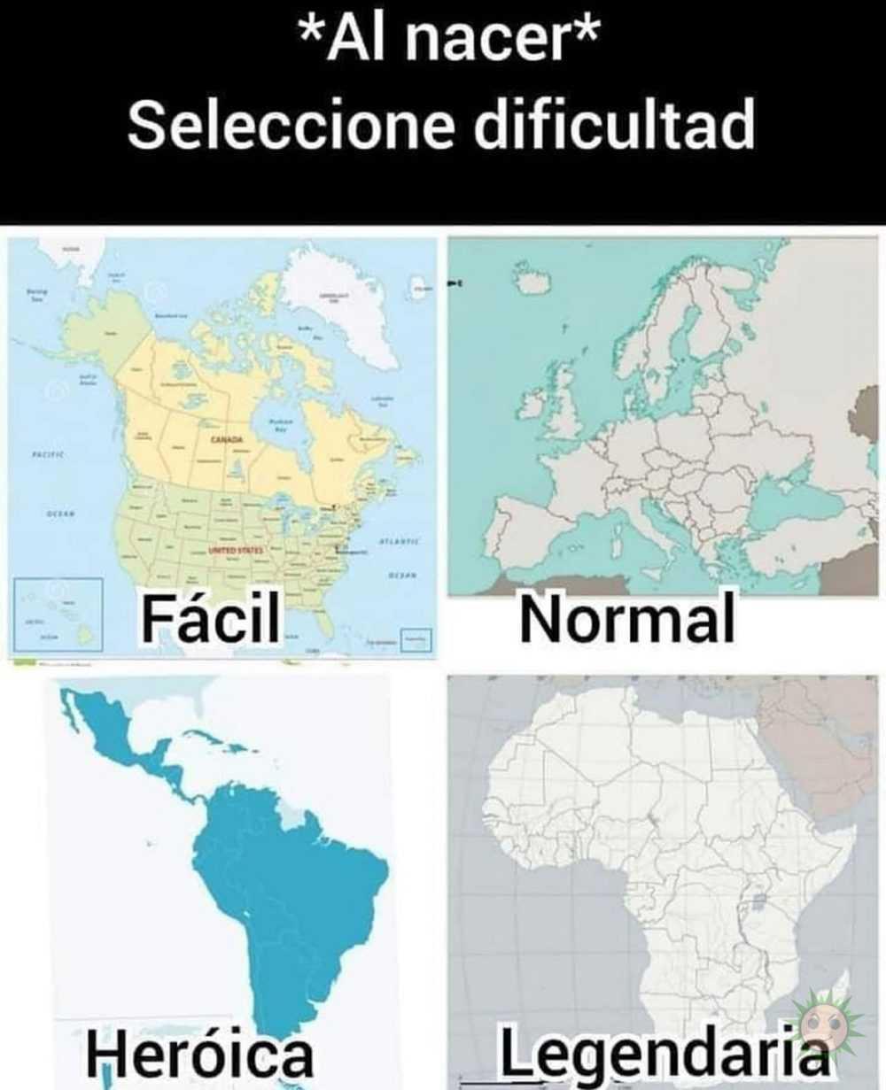 Dificultad dependiendo del lugar de nacimiento